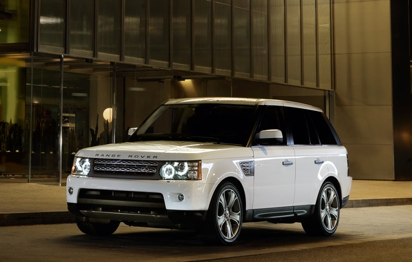 Picture The evening, White, Sport, Machine, Machine, Land Rover, Range Rover, Car, Car, Cars, White, Sport, …