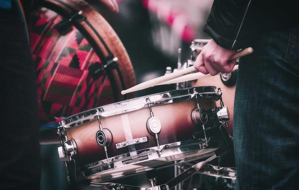 Picture music, drums, musicians, drum sticks