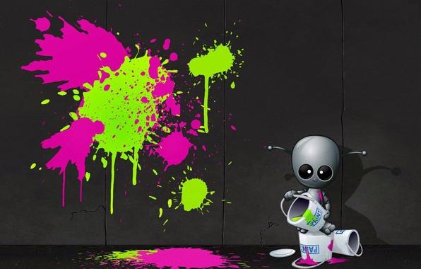 Picture wall, graffiti, paint, artist, alien