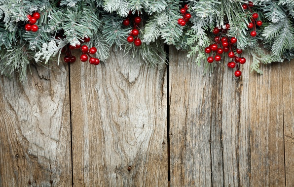 Picture decoration, branches, berries, tree, New Year, Christmas, Christmas, wood, decoration, Merry