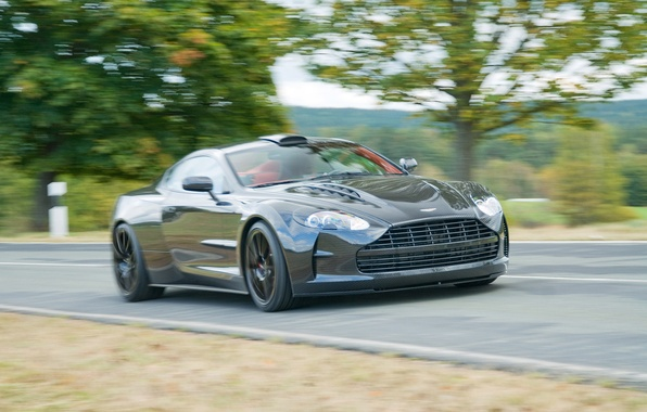 Picture road, trees, Aston Martin, supercar, DB9, Mansory, Cyrus, quick
