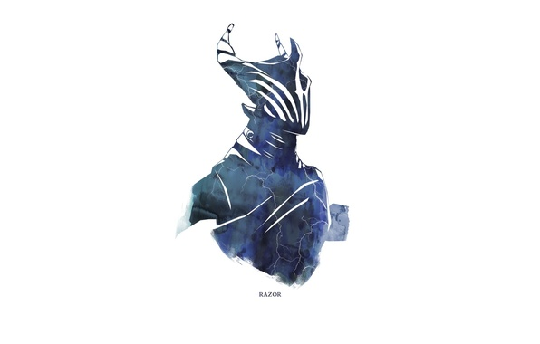 Picture the storm, lightning, Game, dota 2, Minimalism, Razor