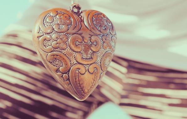 Picture heart, pendant, decoration, engraving