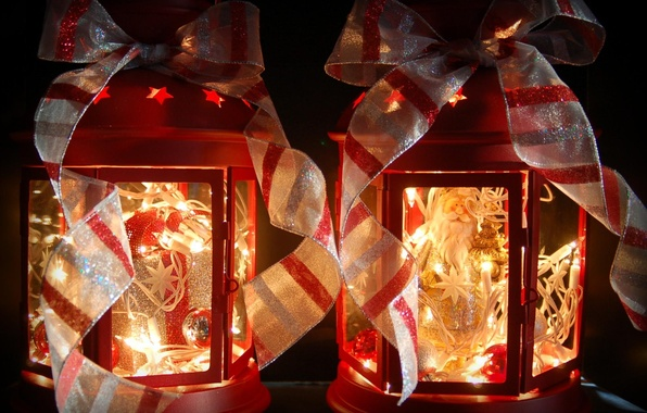 Picture white, red, tape, lights, Christmas, lights, New year