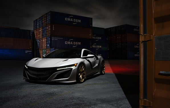 Picture Front, Supercar, Acura, NSX, Wheels, HRE