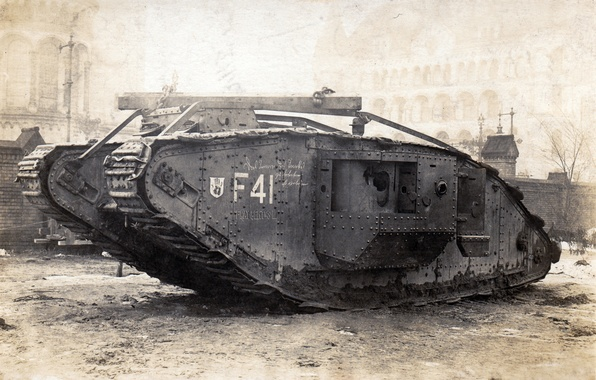 Picture war, tank, British, times, Mk-IV, the first world