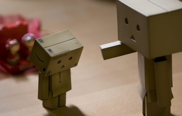 Picture robot, danbo, Danboard, box, toy, punishment