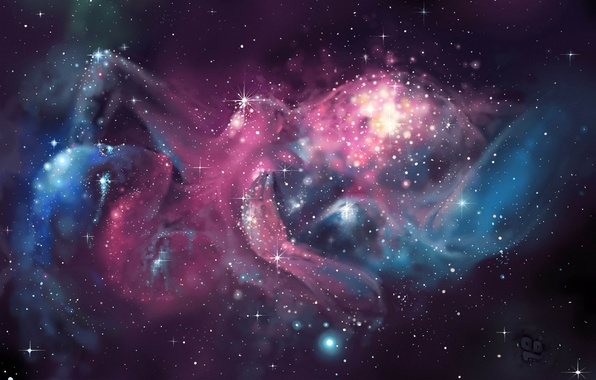 Picture stars, Space, nebula, the birth of the universe