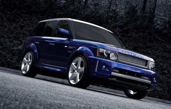 Picture blue, drives, range rover sport, kahn