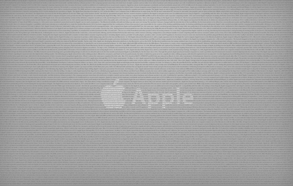 Picture labels, grey, Apple