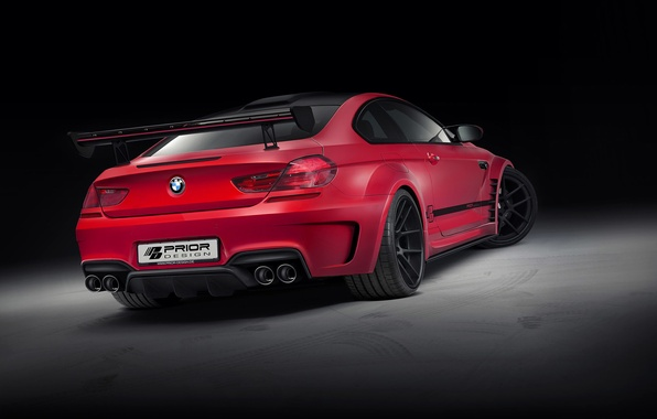 Picture BMW, red, tuning, coupe, prior design, f13
