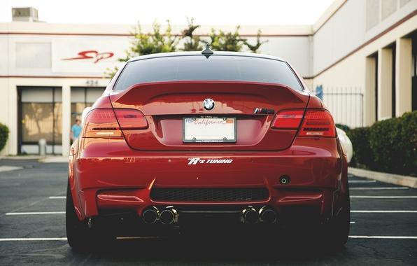 Picture red, strip, bmw, BMW, Parking, red, back, e92, psalt