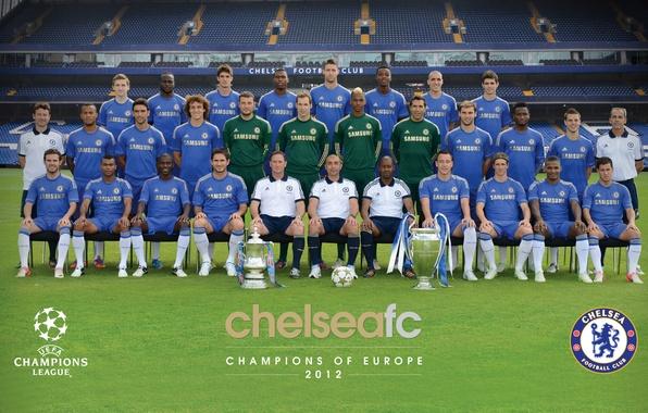 Photo wallpaper lawn, football, the ball, club, team, coach, stadium, players, Chelsea, Chelsea, Stanford Bridge, the FA ...