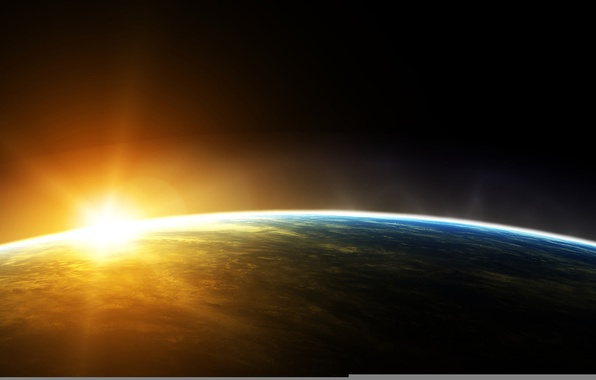 Picture the sun, space, planet, Earth, orbit