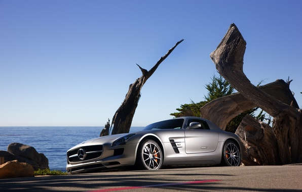 Picture road, auto, machine, road, cars, Mercedes, mercedes sls amg 2011, auto pictures road