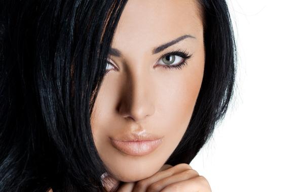 Picture eyes, model, brunette, look
