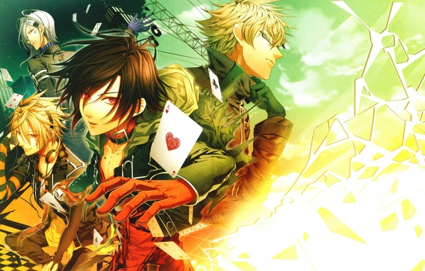 Picture card, fragments, headphones, guys, the suit, kent, amnesia, shin, ikki, toma