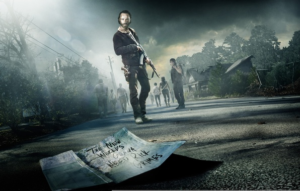Wallpaper Weapons The Walking Dead Andrew Lincoln