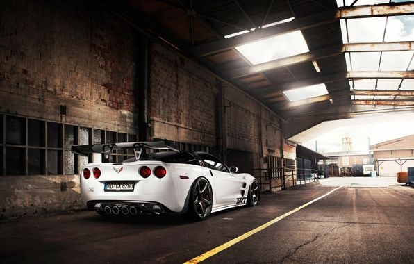 Picture roof, the sky, tuning, supercar, corvette, Chevrolet, zr1, rear view, chevrolet, tuning, Corvette, tikt tripple-x