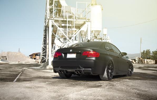 Picture the sky, bmw, BMW, black, back, e92, matte, matte black