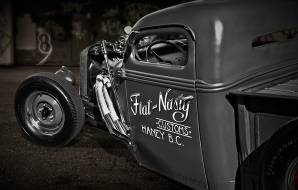 Picture retro, classic, pickup, pickup, 1934, hot rod
