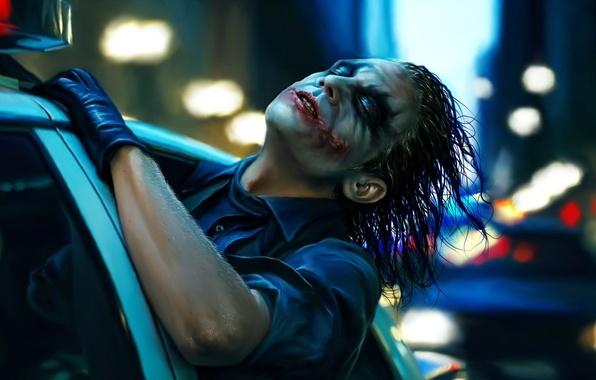 Picture machine, Joker, police, art, The dark knight, the dark knight, Joker