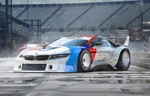 Picture BMW, Car, Race, White, Tuning, Future, by Khyzyl Saleem, Procar