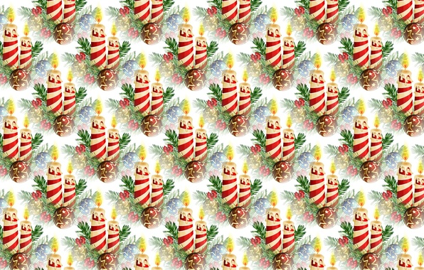 Picture background, holiday, candle, texture, art, New year