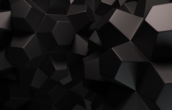 Picture abstraction, background, black, faces, render
