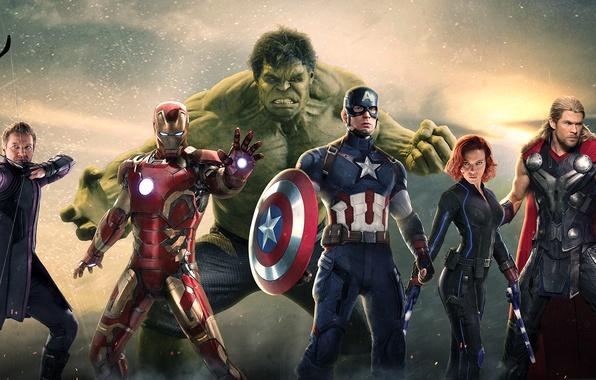 Picture Scarlett Johansson, Hulk, Robert Downey Jr, Iron Man, Captain America, thor, Black Widow, Natasha Romanoff, …