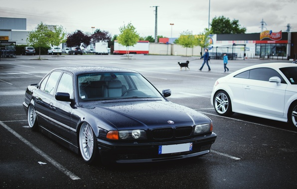 Picture BMW, tuning, Stance, E38, 740il