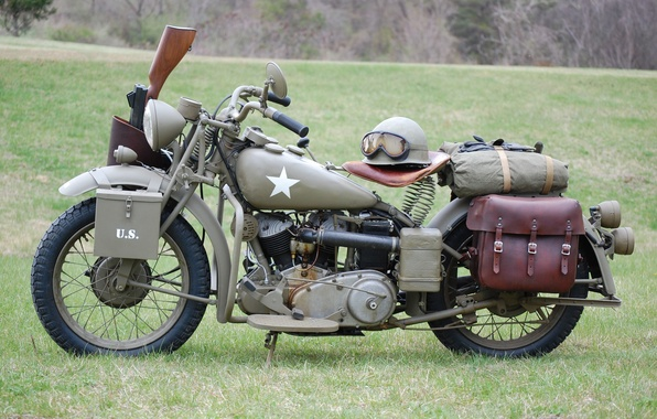 Picture engine, model, color, soldiers, khaki, motorcycle, military, American, was, Harley-Davidson, for, WW2, historical, main, military, …
