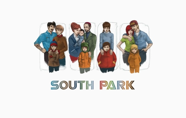 Picture Kenny, South Park, South Park, Cartman, Cahill, South Park, multserial, Stan