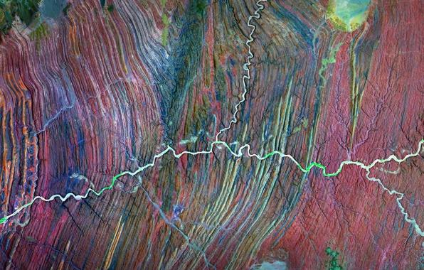 Picture photo, Africa, NASA, Namibia, the Ugab river
