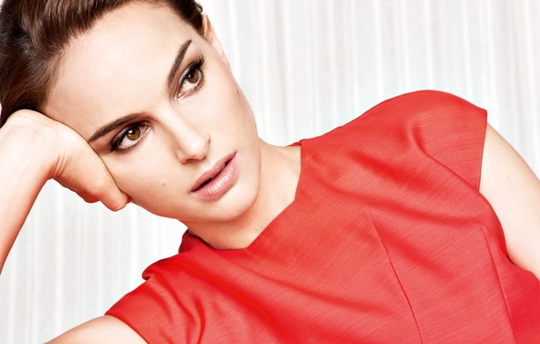 Picture face, makeup, dress, actress, brunette, hairstyle, photographer, Natalie Portman, Natalie Portman, beauty, in red, photoshoot, …
