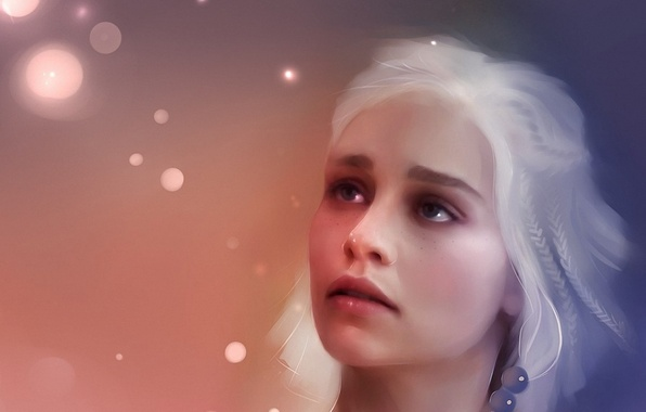 Picture girl, figure, beautiful, beautiful, painting, art, game of thrones, game of thrones, Targaryen, Targaryen, khaleesi, …
