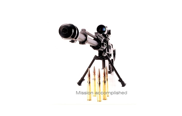 Picture white, background, the barrel, optics, cartridges, sight