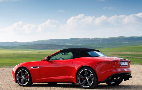Picture machine, the sky, Jaguar, Jaguar, F-Type, V8 S