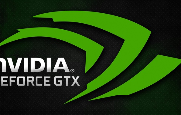 Picture green, logo, nvidia gtx