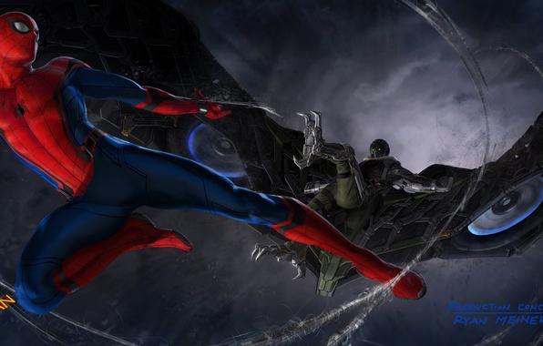 Picture Marvel, Spider-man, Vulture, concept-art, Spider-Man, Vulture, Spider-man homecoming