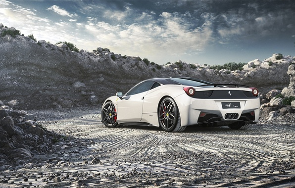 Picture Ferrari, Ferrari, 458, White, Italia