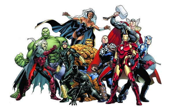 Picture background, Hulk, Storm, Iron Man, Captain America, Thor, Marvel Comics, Cyclops, The Thing, Steve Rogers, …