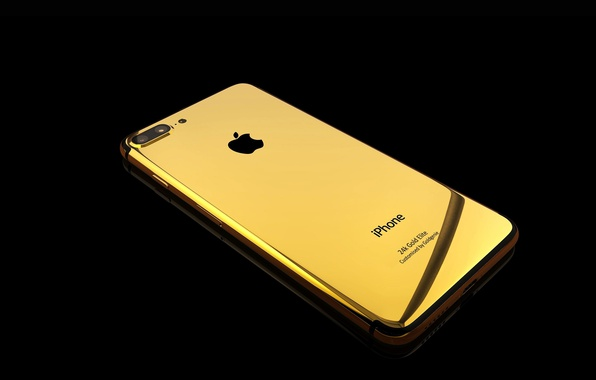 Picture Apple, iPhone, gold, smartphone, iPhone 7, 24k Gold Elite, iPhone 7 gold