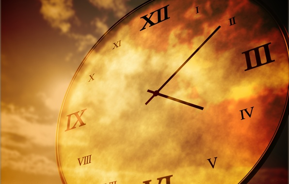 Picture the sky, time, watch, dial