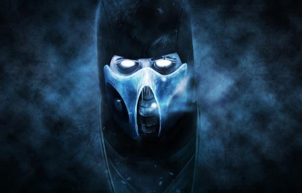 Picture cold, the dark background, ninja, mortal kombat, Sub-Zero, Sub-Zero