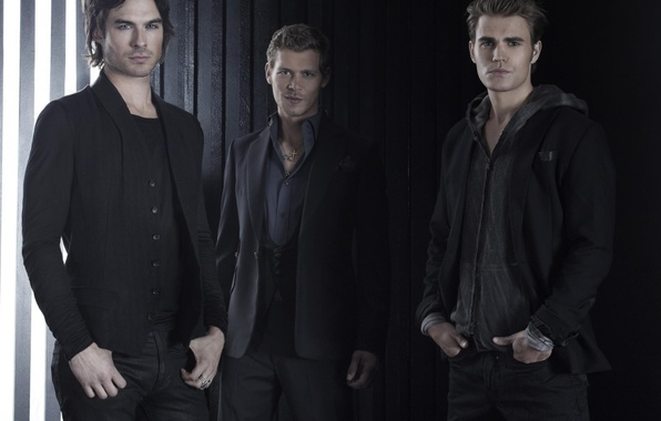 Picture the series, the vampire diaries, Ian Somerhalder, Ian Somerhalder, Paul Wesley, Paul Wesley, Joseph Morgan, …