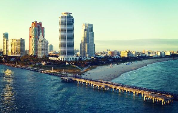Photo Wallpaper Miami Beach Florida The Ocean FL