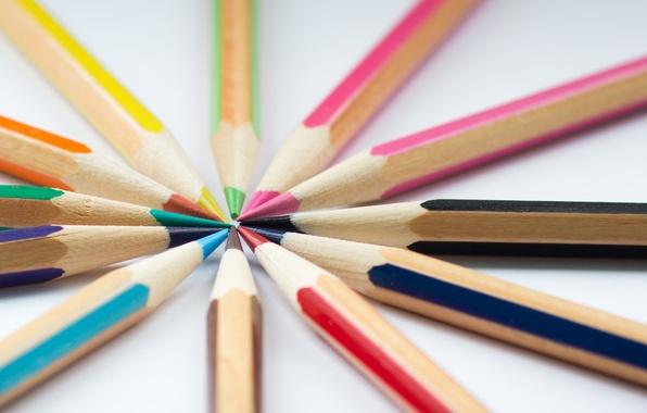 Picture macro, background, color, pencils