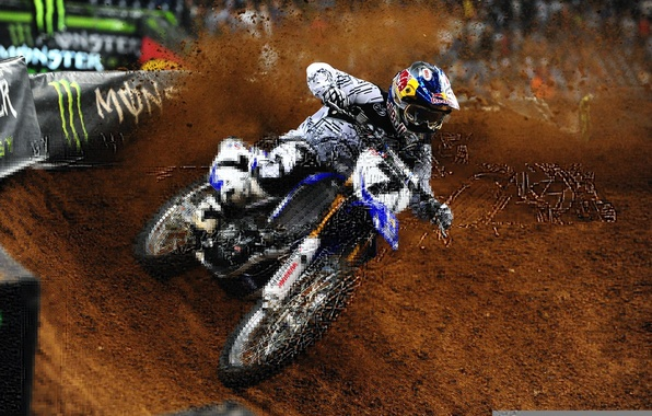 Picture sand, sport, track, dirt, motorcycle, Yamaha, Yamaha, motocross, james stewart, James Stewart