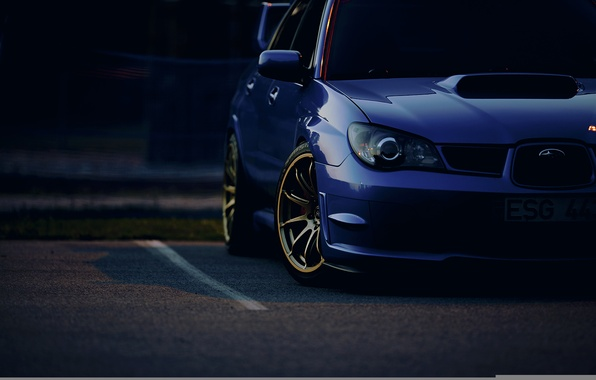 Picture tuning, the evening, Parking, subaru impreza, Subaru